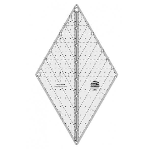 Creative Grids, 60 Degree Diamond Ruler