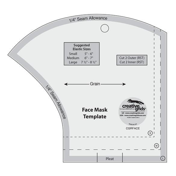 Creative Grids, Face Mask Template Ruler