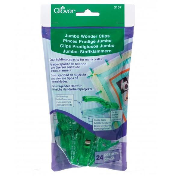 Jumbo Wonder Clips, Neon Green (24 Pk)