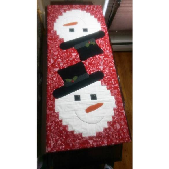 Snowman Runner Pattern