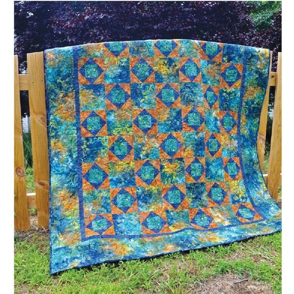 Stars and Squares Quilt Pattern