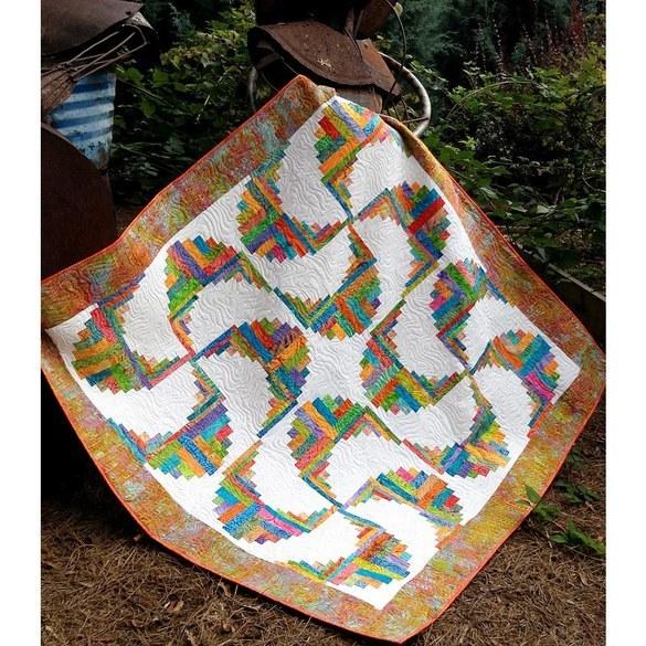 Rainbow Swirls Quilt Pattern - Cut Loose Press