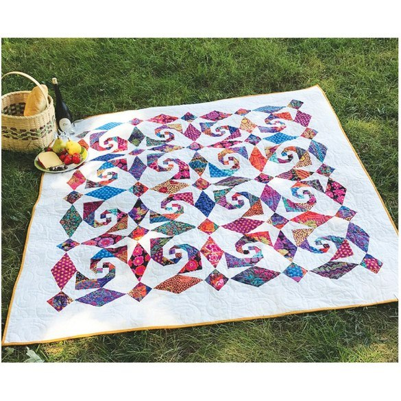 Snails Trail Al Freso Quilt Pattern - Cut Loose Press