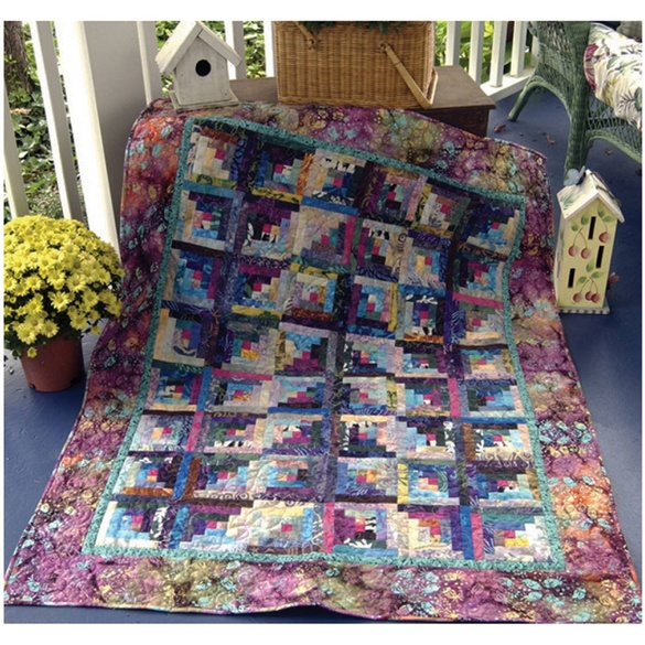 Fly Away Log Cabin Quilt Pattern