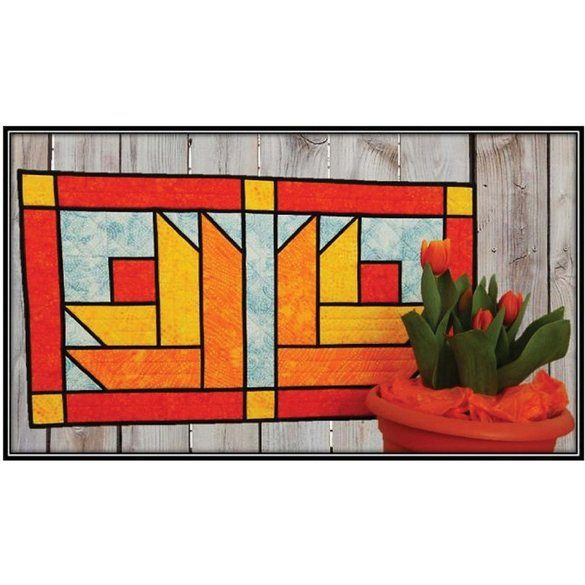 Stained Glass Tulips Table Runner Pattern