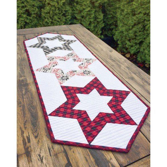 Hollow Star Table Runner Pattern - Cut Loose Press