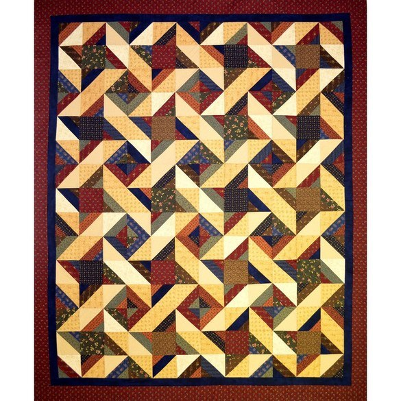 Hot Cross Stars Quilt Pattern