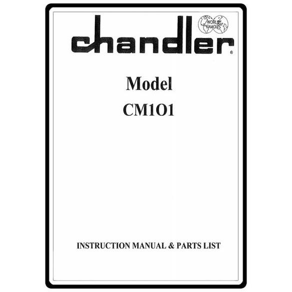 Instruction Manual, Consew CM101 Chandler