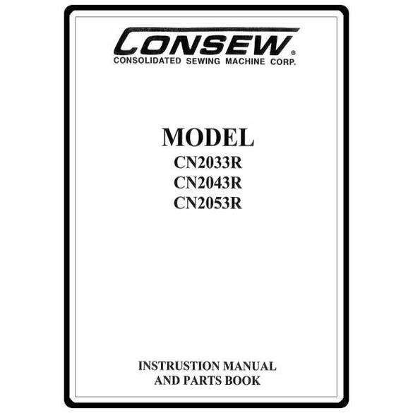 Instruction Manual, Consew CN2053R