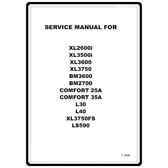 Service Manual, Brother COMFORT25A