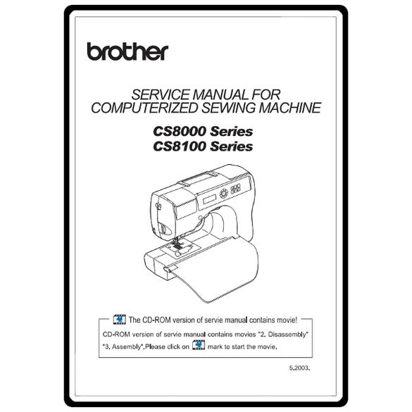 Service Manual, Brother CS8100