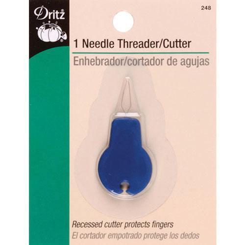 Needle Threader w/ Cutter, Dritz