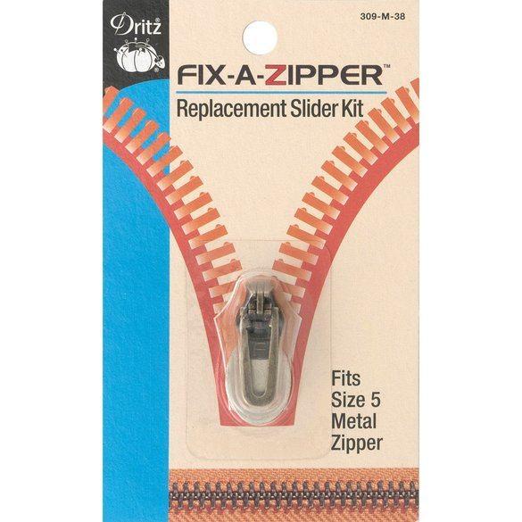 Fix-A-Zipper (5mm), Metal, Antique Brass