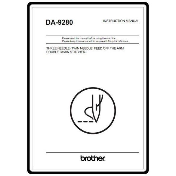 Instruction Manual, Brother DA-9280