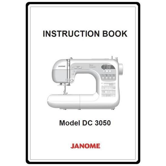 Instruction Manual, Janome DC3050