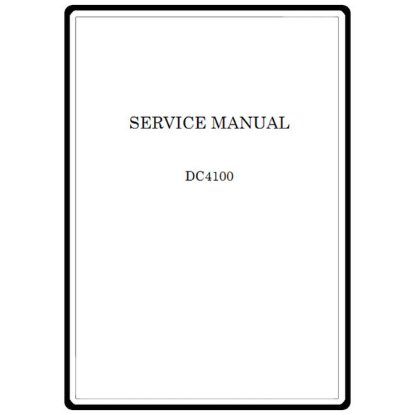 Service Manual, Janome DC4100
