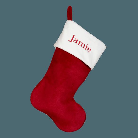 Embroider Buddy Red Plush Christmas Stocking
