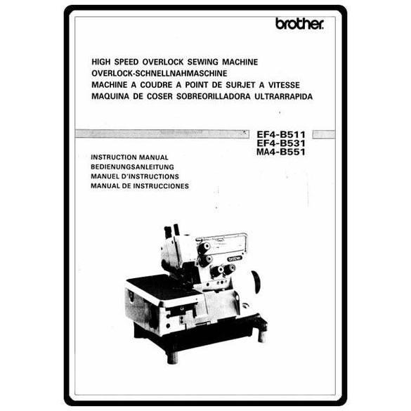Instruction Manual, Brother Overlock EF4-B511