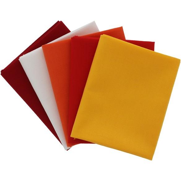 Supreme Solids, Fire Fat Quarter Fabric Bundle (5pk)