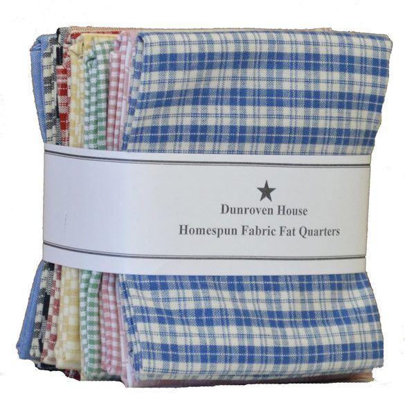 """Homespun Fabric Fat Quarter 18"""" x 22"""" (12pcs)"""
