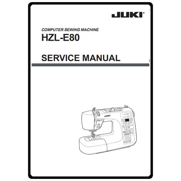 Service Manual, Juki HZL-E80