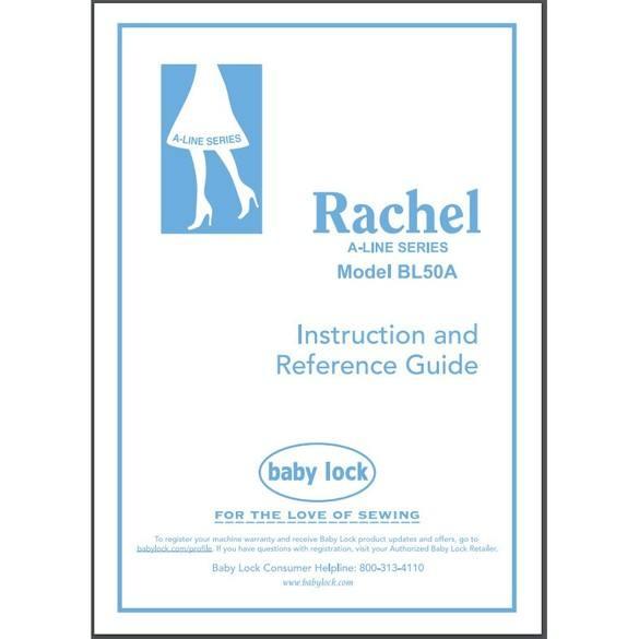 Instruction Manual, Babylock BL50A Rachel