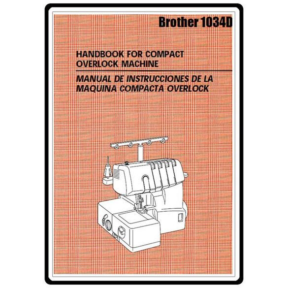 Instruction Manual, Brother 1034D