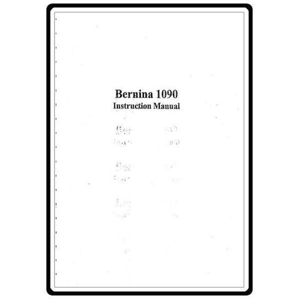 Instruction Manual, Bernina 1090