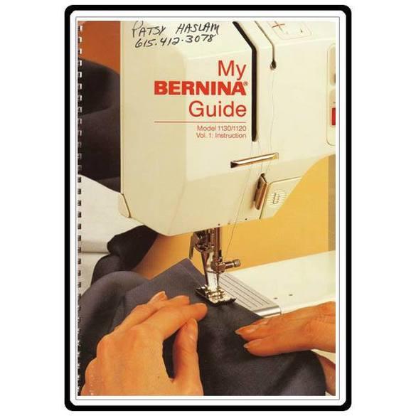 Instruction Manual, Bernina 1120