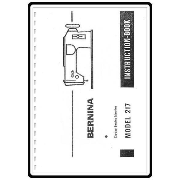 Instruction Manual, Bernina 217