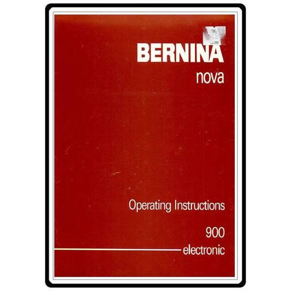 Instruction Manual, Bernina 900 Nova