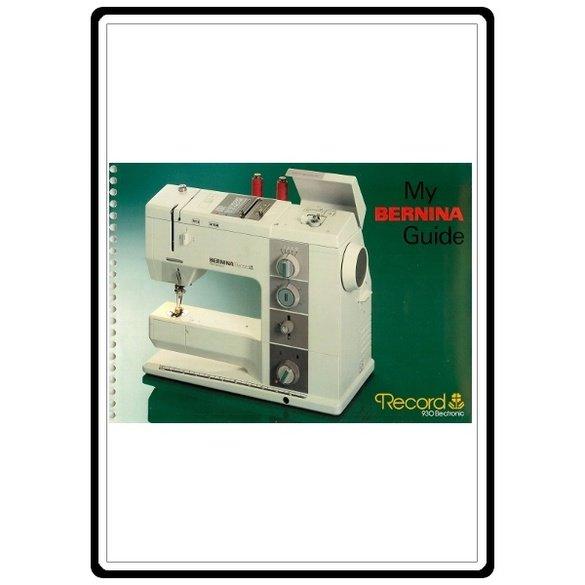 Instruction Manual, Bernina 930 Record