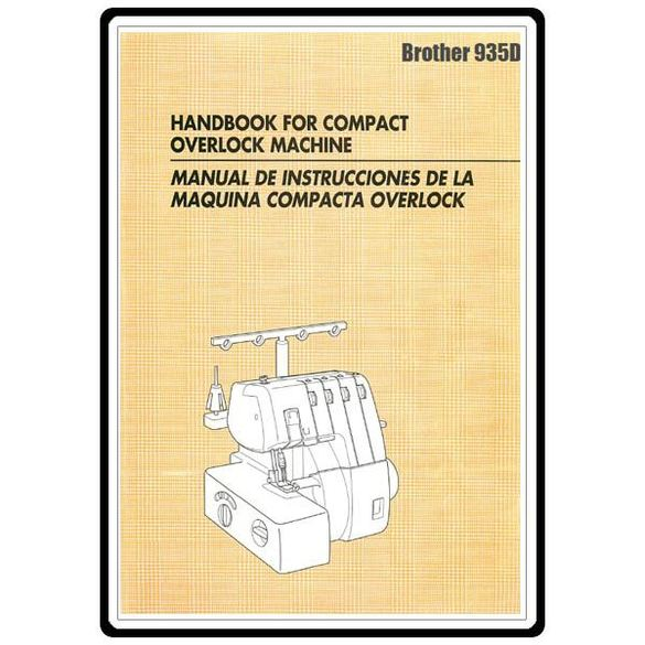 Instruction Manual, Brother 935D
