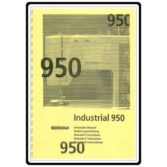 Instruction Manual, Bernina 940