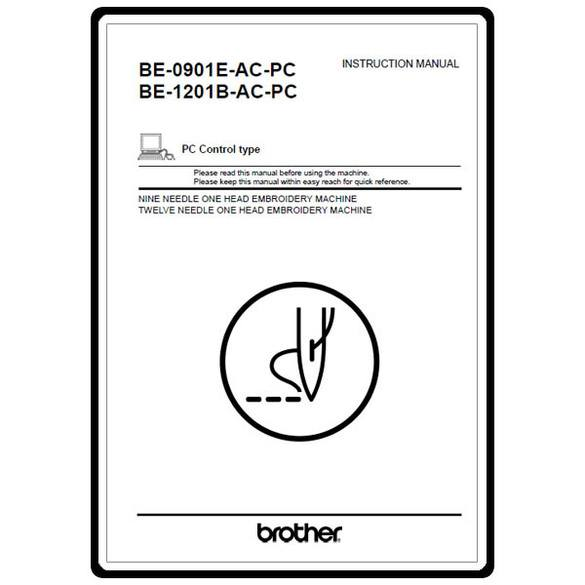 Instruction Manual, Brother BE-1201B-AC