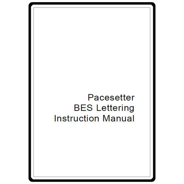 Instruction Manual, Brother BES Lettering