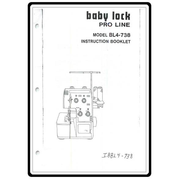 Instruction Manual, Babylock BL4-738 Pro Line