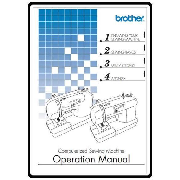 Instruction Manual, Brother CS-6000B