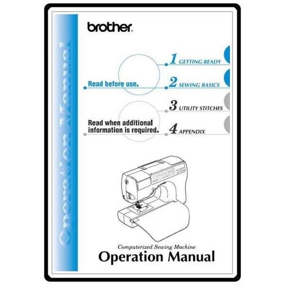 Instruction Manual, Brother CS-8060