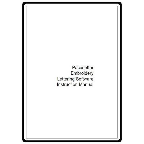 Instruction Manual, Brother ELS Lettering