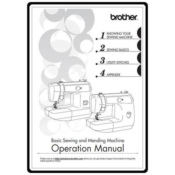 Instruction Manual, Brother LS-2125i