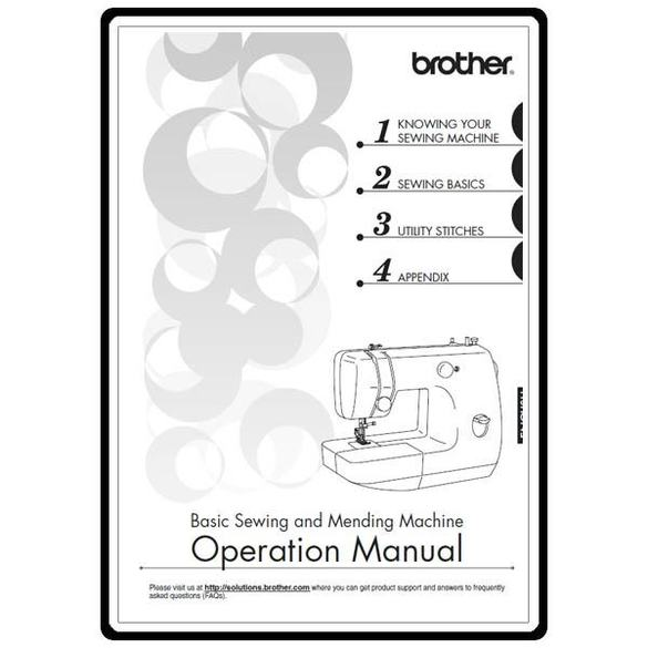Instruction Manual, Brother LX-3125E