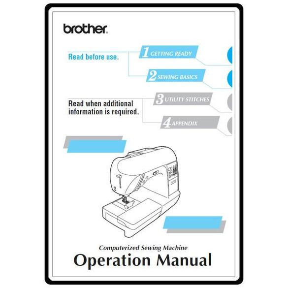 Instruction Manual, Brother NX-250