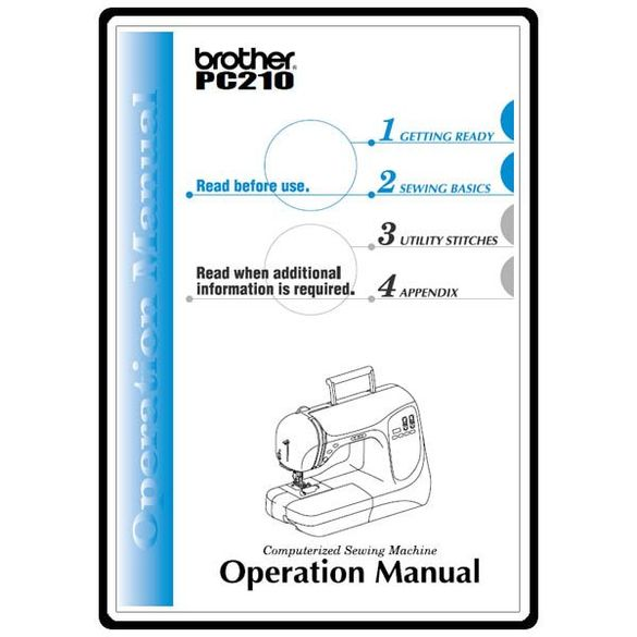 Instruction Manual, Brother PC-210