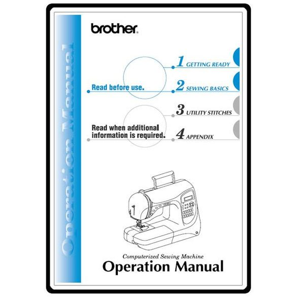 Instruction Manual, Brother PC-420