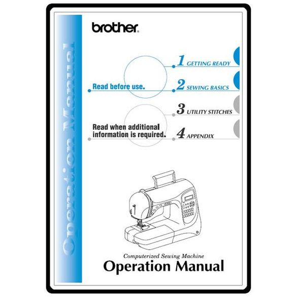 Instruction Manual, Brother PC-420PRW