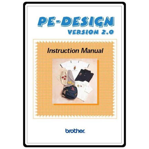 Instruction Manual, Brother PE-DESIGN2.0