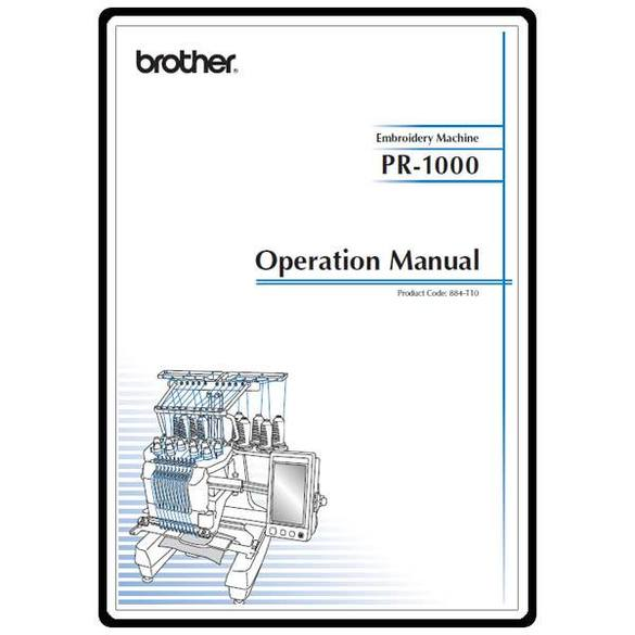 Instruction Manual, Brother PR-1000