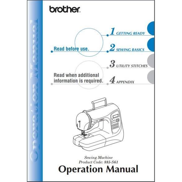 Instruction Manual, Brother Simplicity SB3129