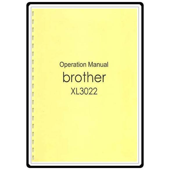 Instruction Manual, Brother XL-3022
